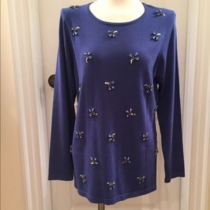 Investments Tops - NWT Blue Investments Sweater